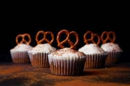 Cheese or Chocolate; Salty pretzels with sweet cupcakes