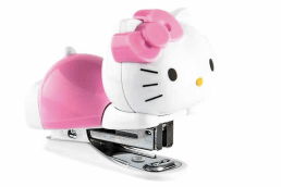 Hello Kitty Stapler - judge a solution by the results, not the appearance