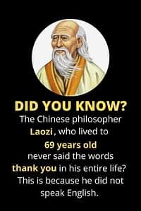 Laozi Confucius never said thank you